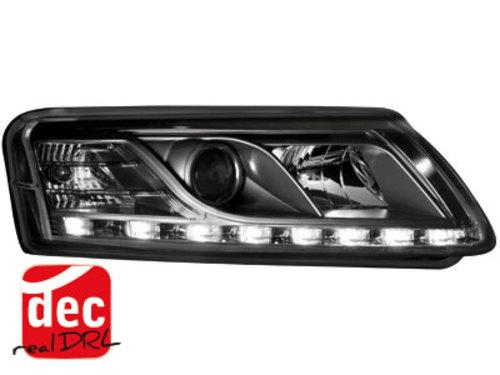 Faruri D-LITE AUDI A6 4F 04-07 echipate cu lumina de zi LED HID negru