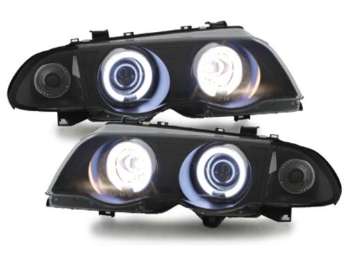 headlights BMW E46 Lim. 98-01_2 CCFL halo rims_black
