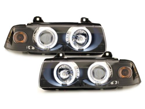 Faruri BMW E36 Lim. 7.92-3.98_2 CCFL Angel Eyes negru