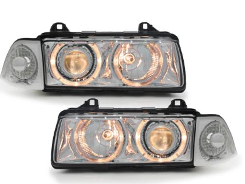 headlights BMW E36 Lim. 92-98_2 halo rims_chrome