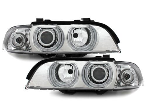 headlights BMW E39 5er 95-00_2 halo rims_chrome