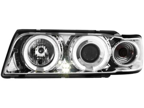 Faruri BMW E38 7er 94-98  pozitie angeleyes  chrom