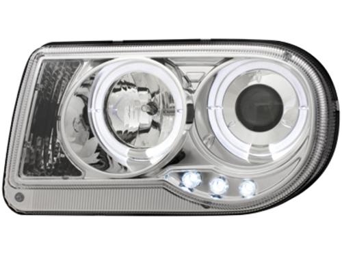 Faruri Chrysler 300C 04-08  pozitie angeleyes chrom