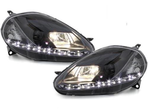 DECTANE DRL look headlight Fiat Grande Punto 08-09_drl optic_black