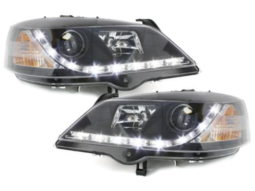 Faruri D-LITE Opel Astra G echipate cu lumina de zi LED  negru