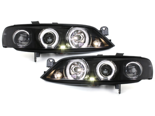 headlights Opel Vectra B 96-99_2 halo rims_black