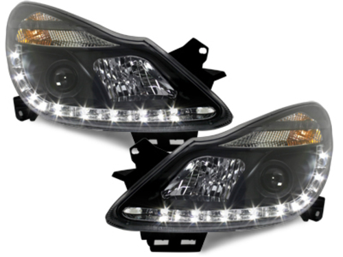 LED taillights Opel Astra G Caravan 98-04 _ red/crystal