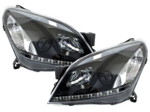 DECTANE DRL look headlight Opel Astra H 04-09_drl optic_black