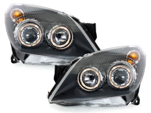 Faruri Opel Astra H  04-09 pozitie angeleyes  negru