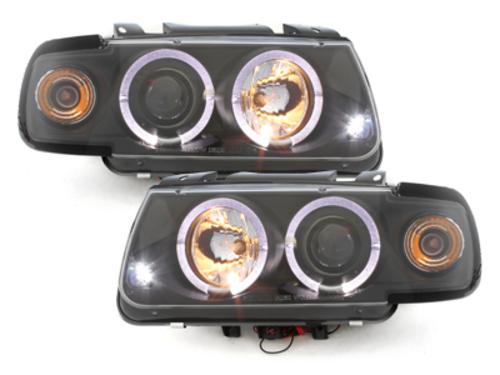 Faruri VW Polo 6N 95-98  pozitie angeleyes  negru