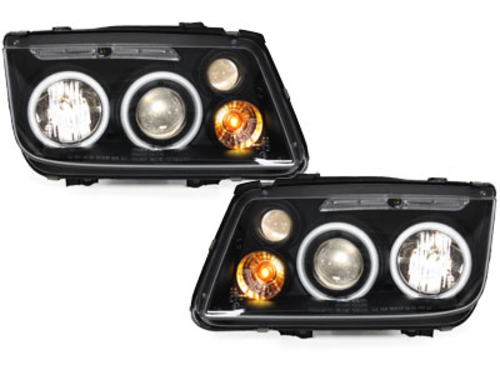 headlights VW Bora 98-05_2 CCFL halo rims_black
