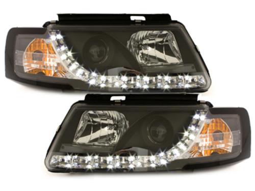 Faruri D-LITE VW Passat 3B  echipate cu lumina de zi LED  negru