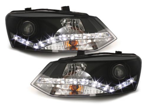 Faruri DAYLINE VW Polo 6R 09 + _drl optic negru
