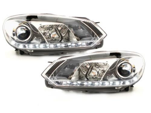 Faruri D-LITE VW Golf VI 08+  echipate cu lumina de zi LED  chrom