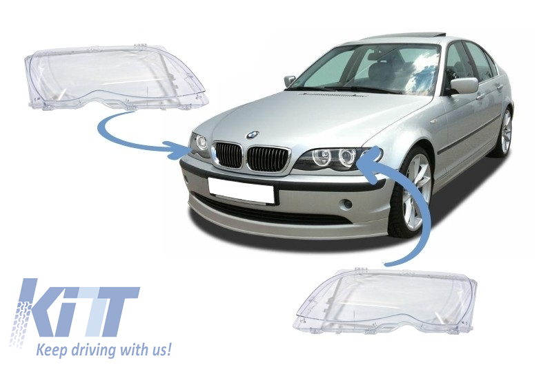Headlight Glasses BMW 3 Series E46 Facelift Sedan/Touring (2001-2004)