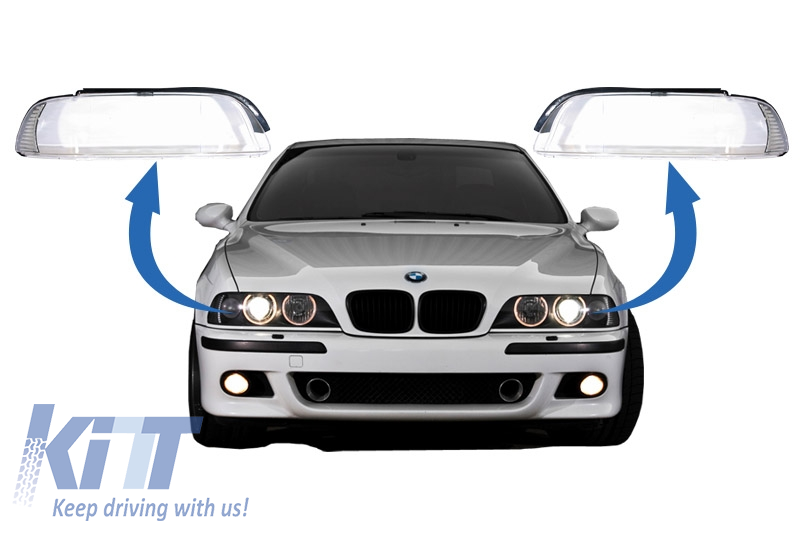 Headlights Glases Lens BMW 5 Series E39 Facelift (2000-2003)