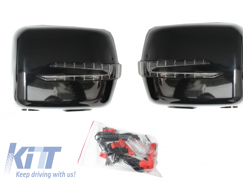 Mercedes W463 G-Class Mirror Covers With Arrow Led Turning Lights (1990-2012)