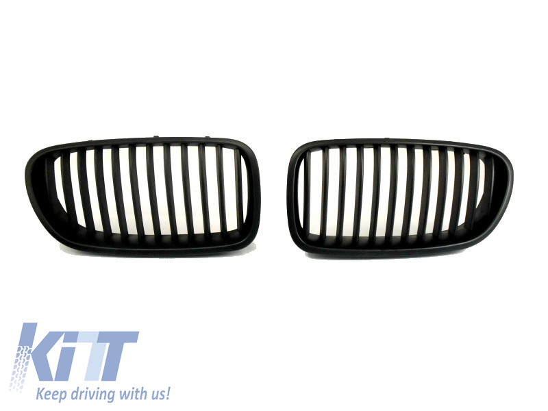 Front Grills Kidney BMW 5 Series F10 F11 F18 Limo. Touring 2010-up Matte Black