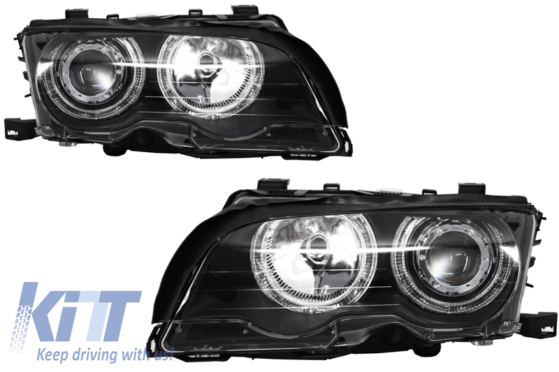 Angel Eyes Headlights BMW 3 Series E46 Coupe/Cabrio (1998-2003) Black Edition