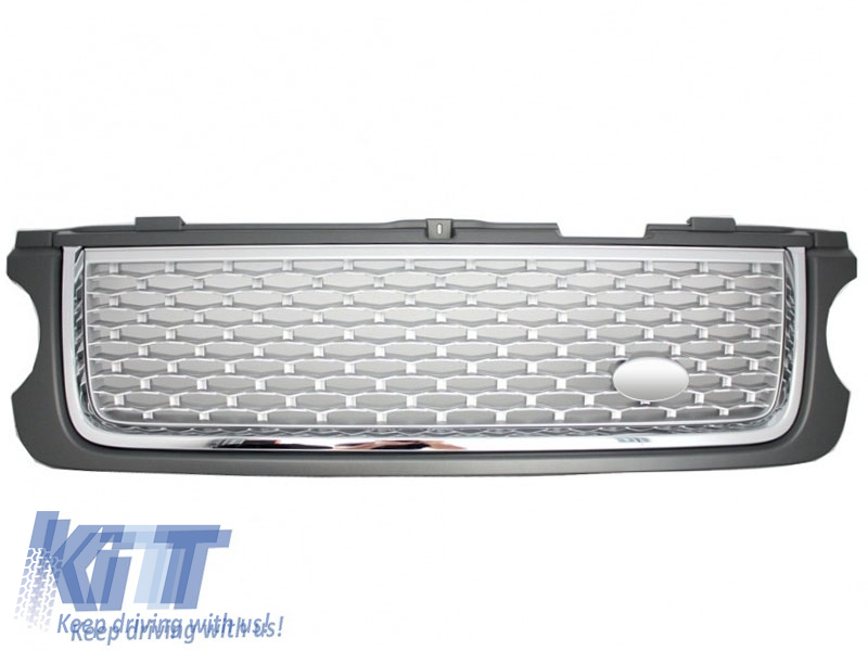 Central Grille Land Rover Range Rover Vogue III (L322) (2010-2012) Grey Silver Autobiography  Supercharged Edition