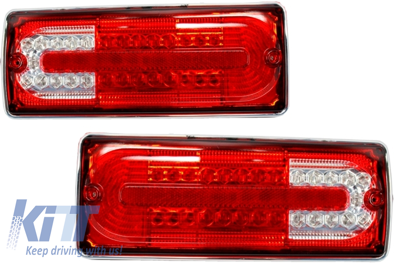 Led Taillights Mercedes Benz G-class W463 (1989-2015) Red/Clear - TLMBW463RC
