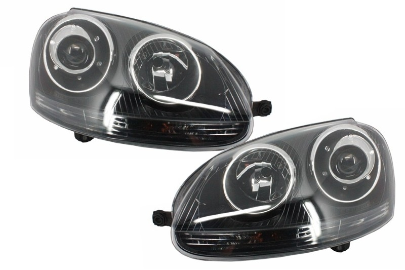 Xenon Look Headlights Volkswagen Golf V (2003-2007) GTI R32 Black Edition