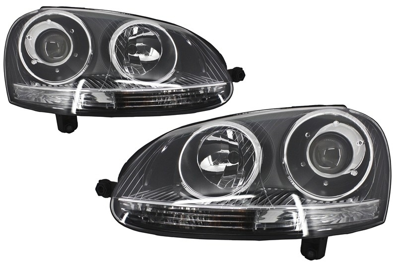 Xenon Look Headlights Volkswagen Golf V (2003-2007) GTI R32 Chrome Edition