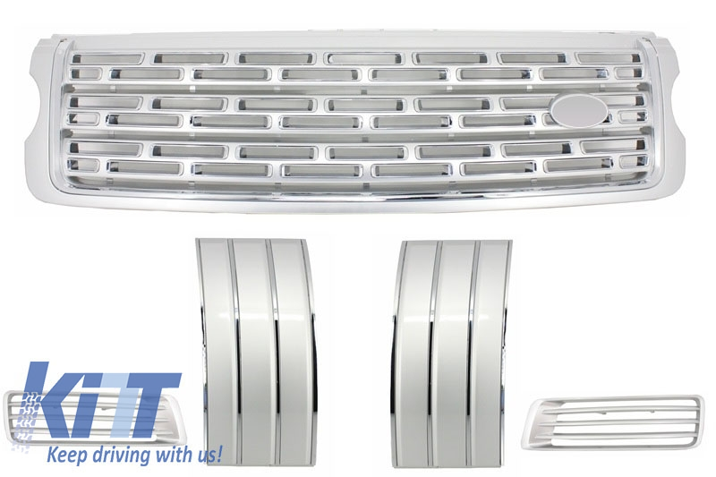 Range Rover Vogue L405 (2013-up) Autobiography Pack - Central Grille, Side Vents and Air Ducts Assembly Silver Edition