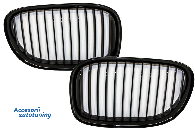 Central Grilles Kidney Grilles suitable for BMW F01 7 Series 2008-up Piano Black