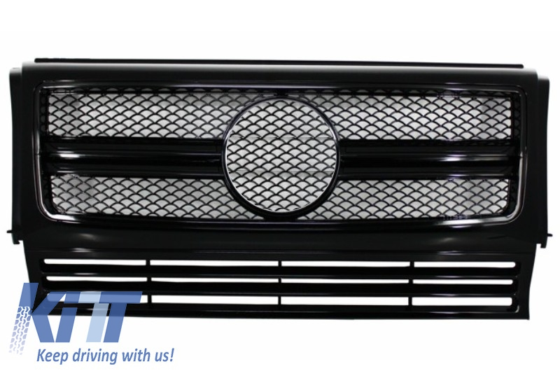 Front Grille Mercedes W463 G-Class (1990-2012) New G65 G63 AMG Look Piano Full Black Edition