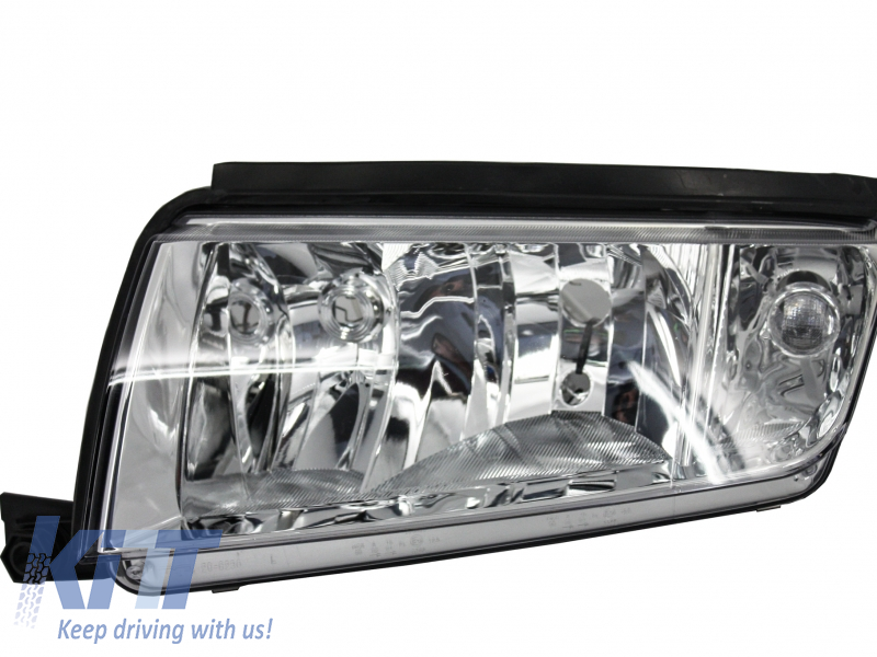 Skoda Fabia I 1 Type 6Y (1999-2007) Replacement Left Side Headlight Chrome Background 6Y1941016C