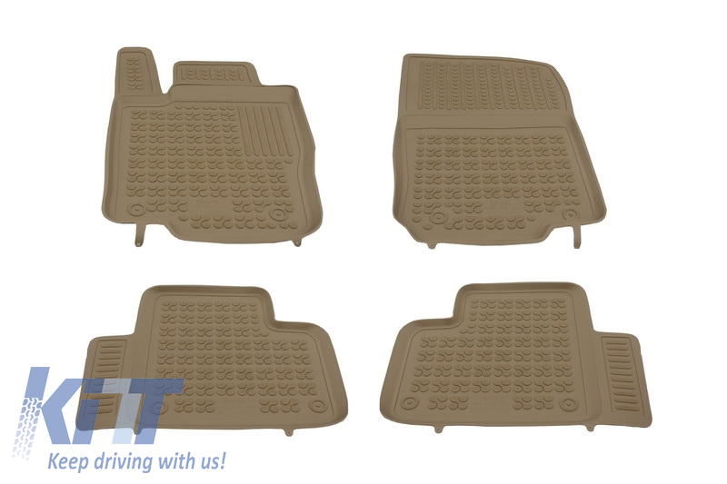 Floor mat Rubber Beige MERCEDES ML W166 M-Class 2011- GLE 2015-  GLE Coupe 2015-