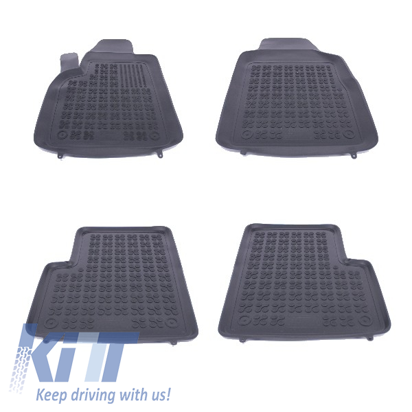 Floor mat Rubber Black suitable for FIAT 500 2007+