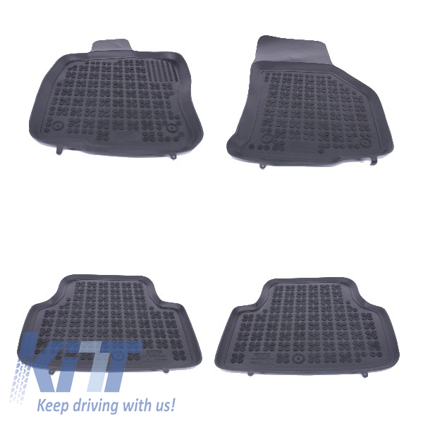 Floor mat Rubber Black suitable for SKODA Octavia III 2013+