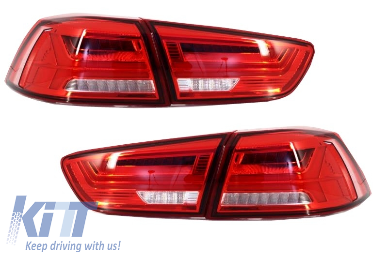 LED Taillights Mitsubishi Lancer 08+ / Mitsubishi EVO X 08 + Rear Lamp  - TLMILALED