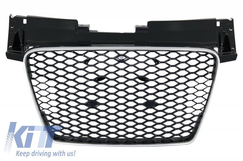 Badgeless Front Grille Audi TT 8J (2006-up) RS Design Piano Black