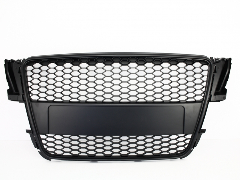 Badgeless Front Grille Audi A5 8T (2007-2011) RS Design Matte Black