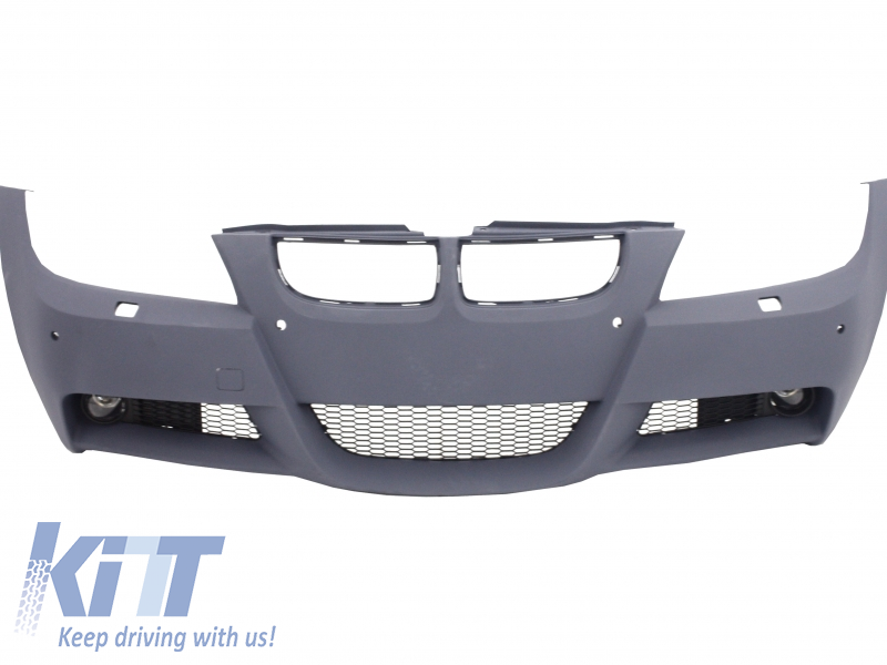 Front Bumper BMW 3 Series E90 E91 Sedan Touring (2004-2008) With PDC Holes & SRA