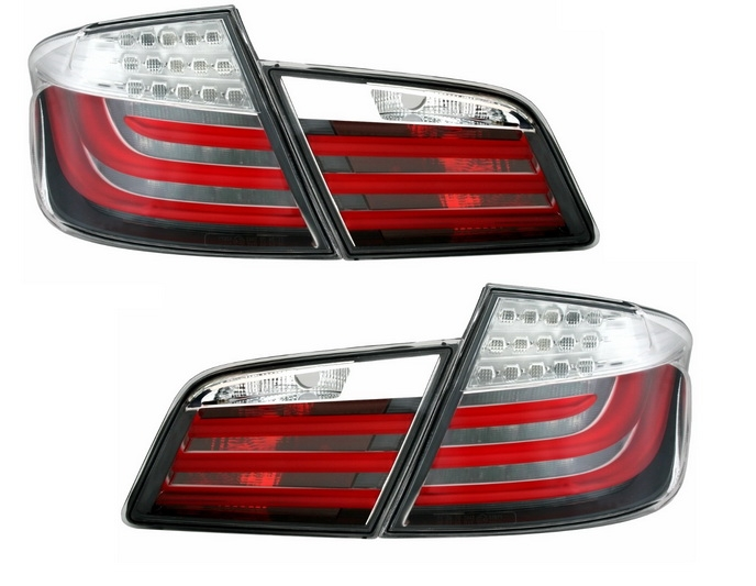 BMW F10 5 Series Saloon 2011–2014 LED Tail Lights LightBar Lamps Clear Red