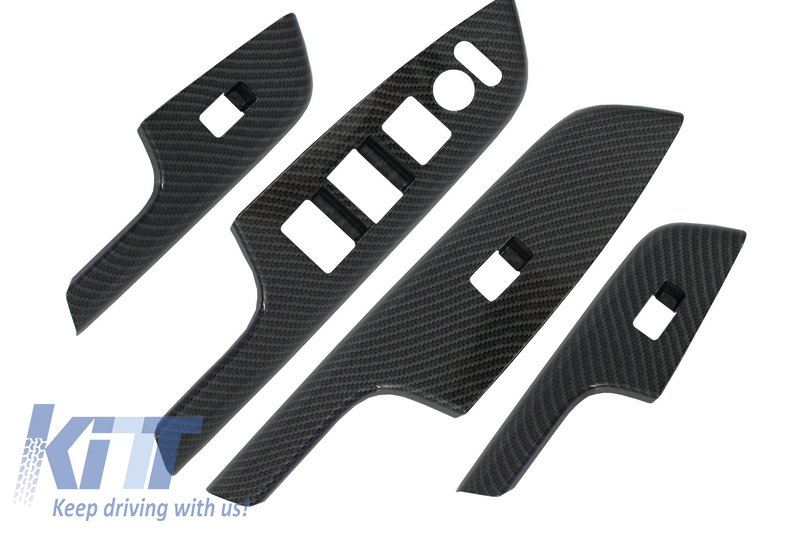 Carbon fiber Style Door Cover Armrest Trim Honda CRV (2012-2016) IV Generation OEM Design