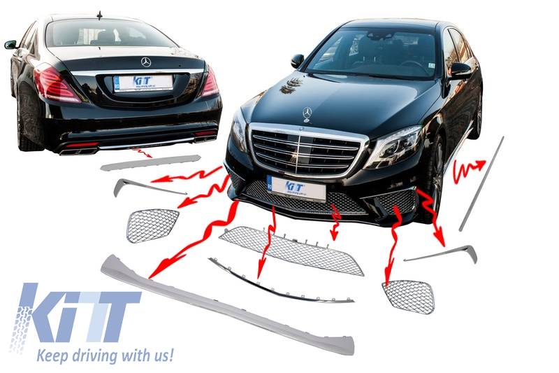 Chrome package ornaments moldings for Mercedes W222 (2013-up) S-class AMG S65 Body kit