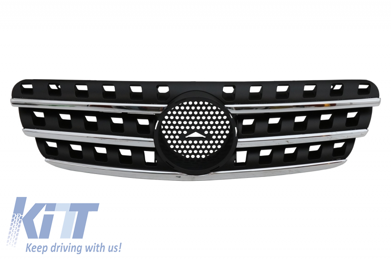 Front Grille Mercedes Benz W163 ML (1997-2005) AMG Black/Chrome Edition