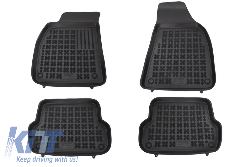 Floor mat black fits to/ AUDI A4 11/2000-10/2007