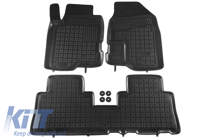 Floor mat black fits to CHEVROLET Captiva; OPEL Antara 2006-