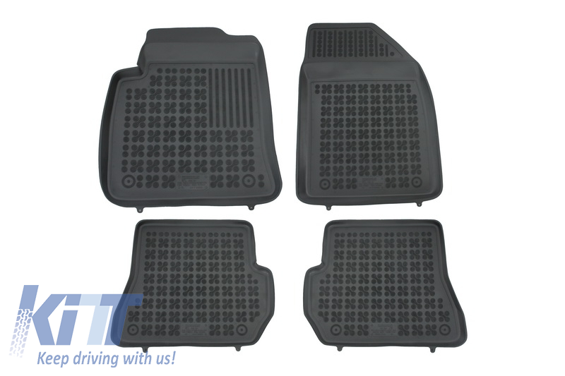 Floor mat black fits to FORD Fiesta VI 11/2005-07/2008, Fusion I 11/2005-