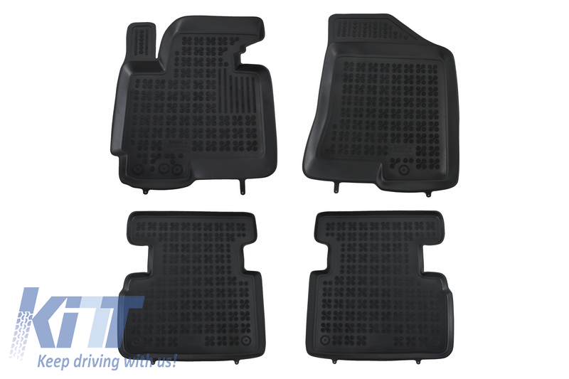 Floor mat black fits to/ suitable for KIA Sportage III 2010-2016