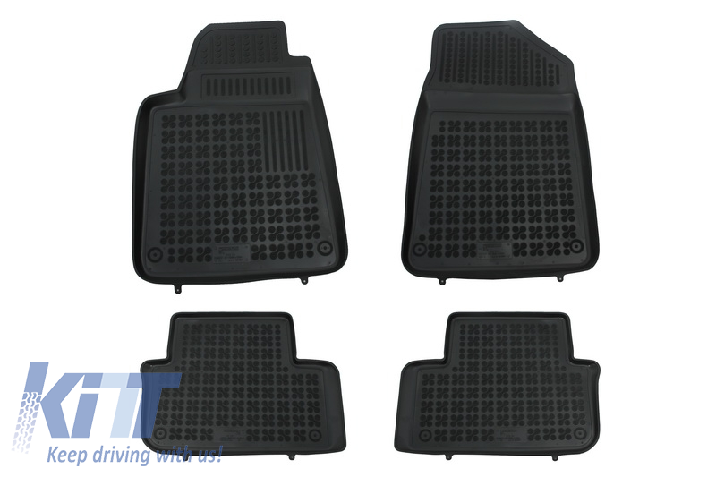 Floor mat black fits to/ PEUGEOT 407 04/2004- .