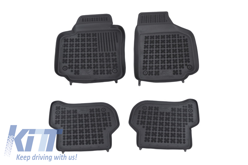 Floor mat black fits to SKODA Yeti 2009-; VOLKSWAGEN Golf Plus 2005-
