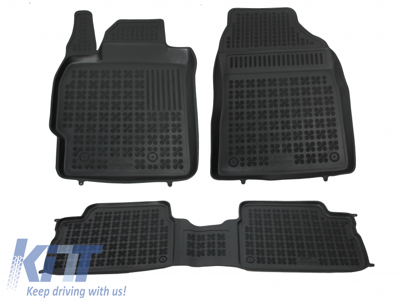 Floor mat black fits to TOYOTA Auris 02/2007-2012, Corolla 10/2006-2013