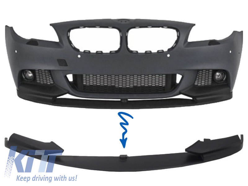 Front Bumper Spoiler Lip BMW 5 Series F10 F11 Sedan Touring M-Performance